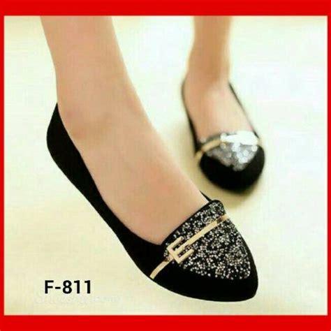 Sepatu Wanita Flat Model Baru Barang Import Cantik Murah 1 sepatu teplek flat shoes model terbaru warna hitam cantik