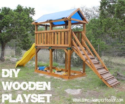 woodwork diy playset plans pdf plans