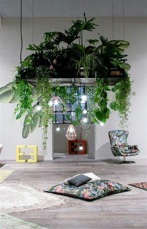 lush plants hanging combined  designer pendant lights