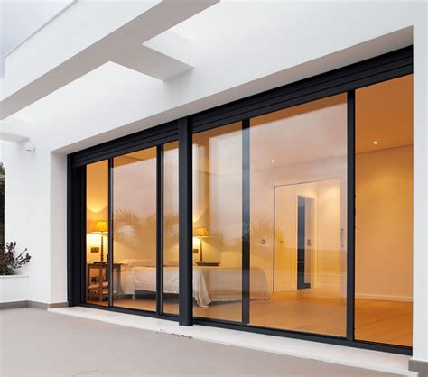 Glazed Exterior Doors Sl20 Classic Sliding Aluminium Glass Patio Doors Slimline Glazing