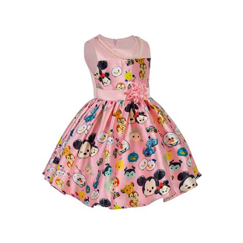 Tsum Tsum Satin Dress tsum tsum flowers disney princess dress birthday dresses ebay