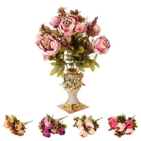 artificial peony faux silk flowers wedding party christmas artificial wedding party decor bridal bouquet peony silk