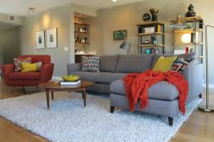 Mid Century Modern Living Room Ideas by Mid Century Modern Living Room With Bookcases And White