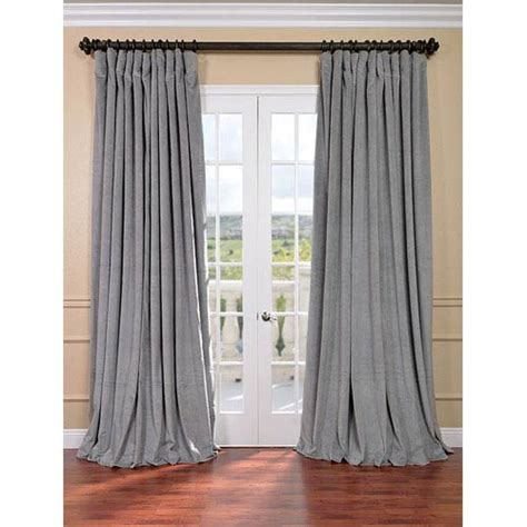 double wide curtain signature silver grey double wide velvet blackout pole
