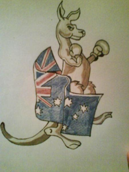 aussie kangaroo tattoo design by gbftattoos on deviantart