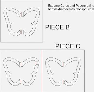 Aim Template Butterfly Place Cards by Cards And Papercrafting S Day