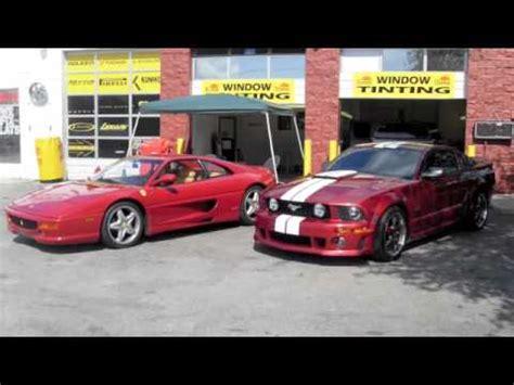 ferrari horse vs mustang roush mustang vs ferrari 2 youtube