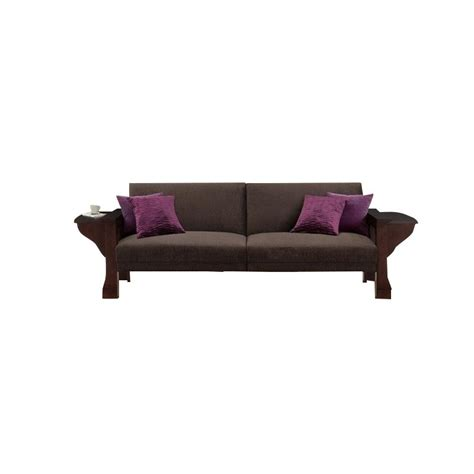 brown chenille sofa splitback sleeper sofa with mahogany wood and brown