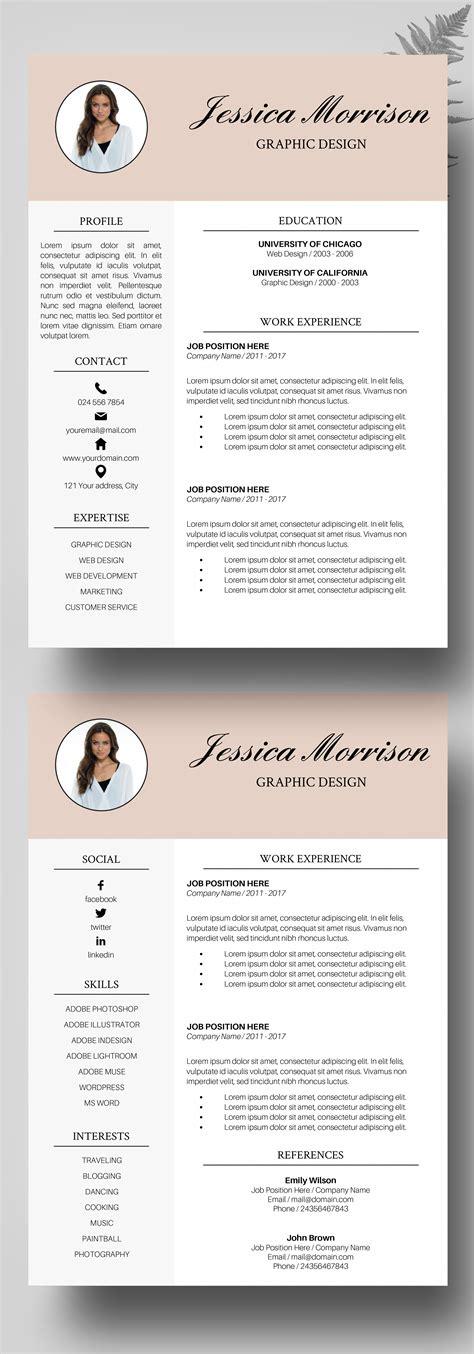 impressive professional resume template freead format pdf free