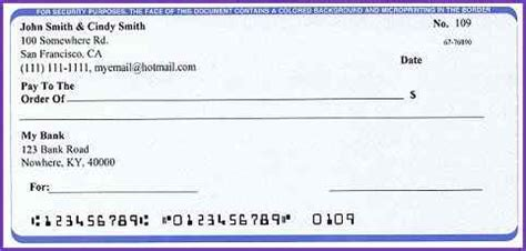 Sle Blank Check Beneficialholdings Info Printable Blank Check Template