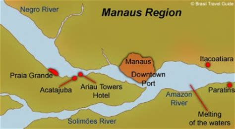 map of manaus a grand voyage of south america the river