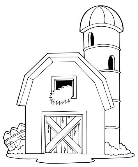 scheune zeichnung kostenlose malvorlage menschen und ihr zuhause scheune