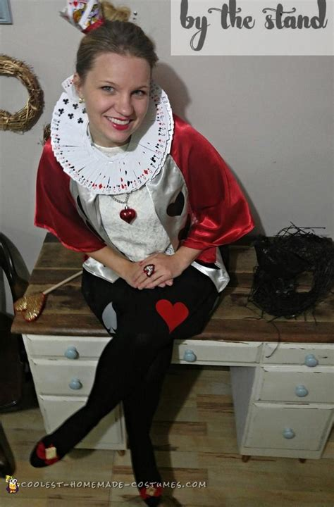 super inexpensive queen  hearts adult costume