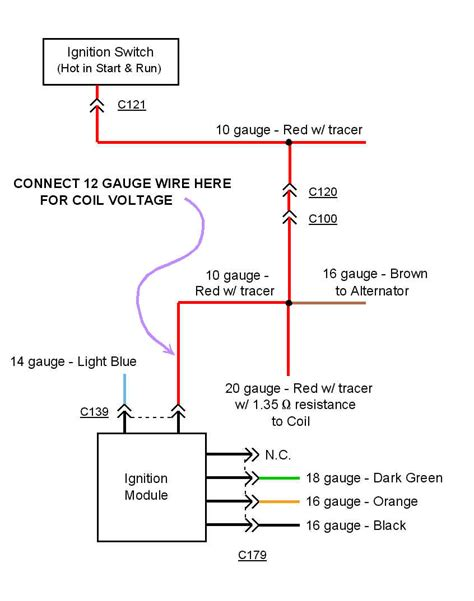 here is a schematic of the stock ignition circuit andwhere