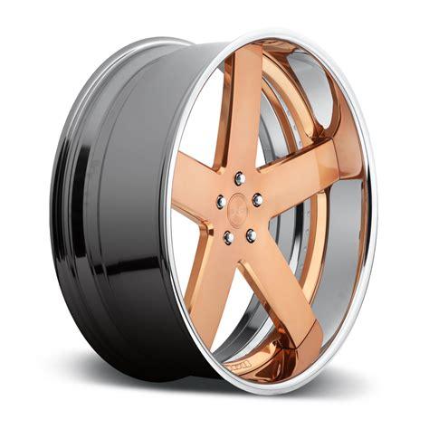 rose gold chrome dub forged baller x84 wheels down south custom wheels
