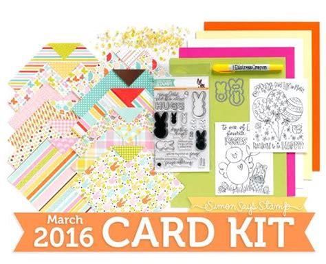 card kit for handmade by g3 simon says st march card kit card set 2