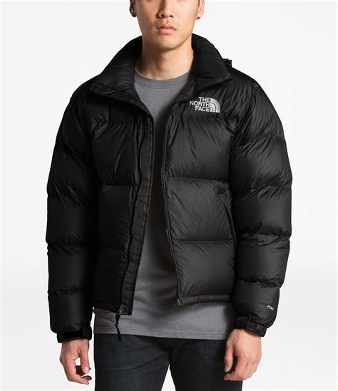 north face solid nuptse insulated puffer  jacket