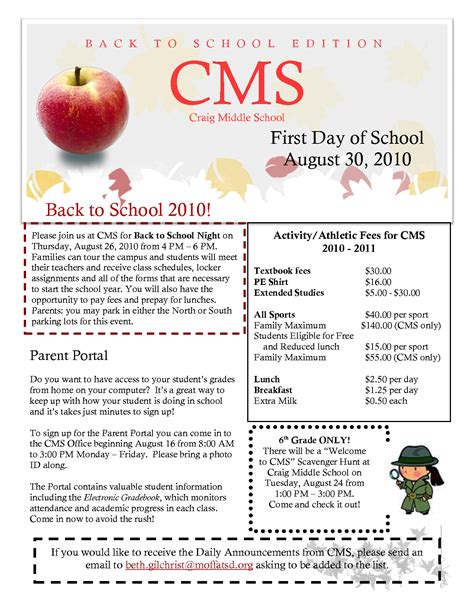 Best Photos Of Sle School Newsletter Templates Free Preschool Newsletter Template Middle School Newsletter Templates Free