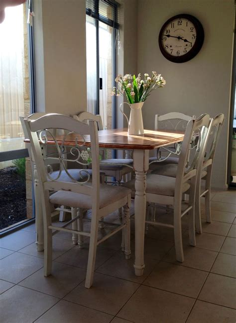 shabby chic dining table and chairs ideas for our new