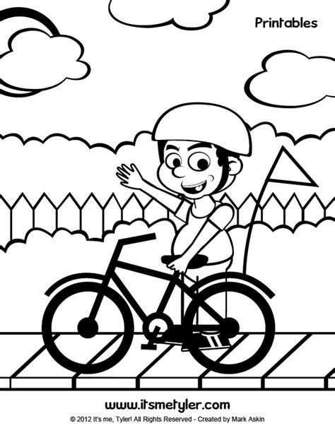 bike safety coloring pages az coloring pages