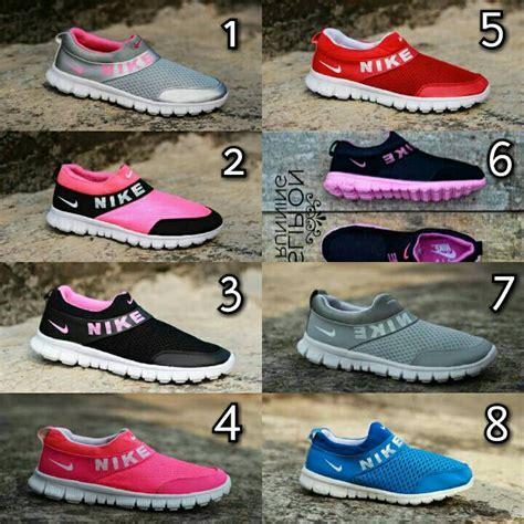 Sepatu Nike Slip On Wanita A6 jual sepatu sport wanita nike free slip on tanpa