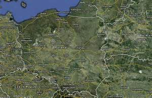 satellite map of poland satellite images map pictures