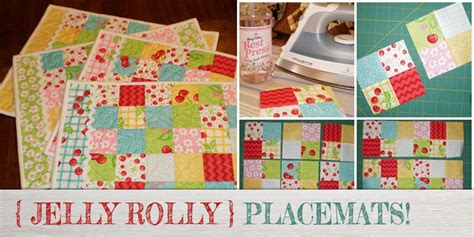 Free Easy Quilted Placemat Patterns by Free Jelly Roll Quilted Placemat Pattern Beginners