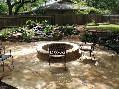 patio water garden oklahoma flagstone patio set in decomposed granite with