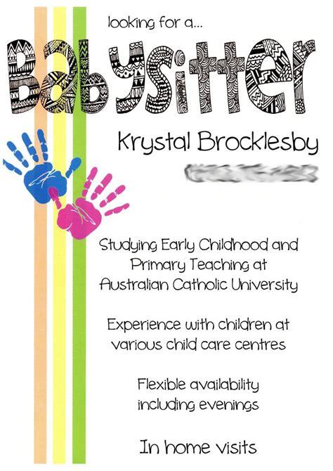 15 cool babysitting flyers printaholic com