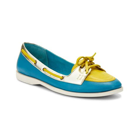 flat boat shoes enzo angiolini raevon flat boat shoes in blue platino