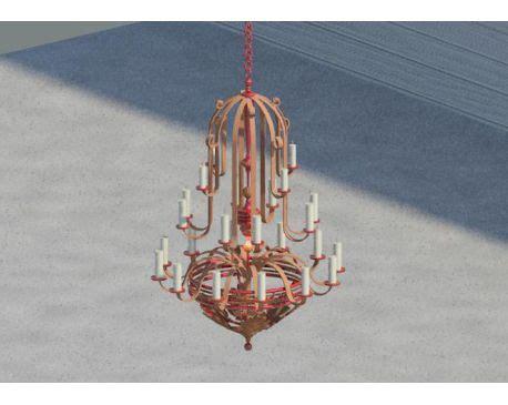 Chandelier Revit Family Wrought Iron Chandelier For Revit Architecture 2011 Modlar