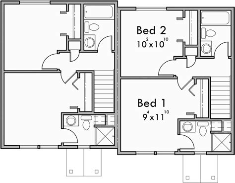 duplex floor plans 2 bedroom duplex house plans small duplex house plans narrow d 501
