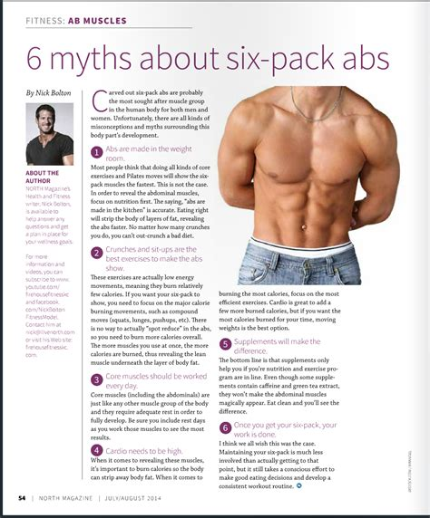 6 myths about 6 pack abs nick bolton fitness