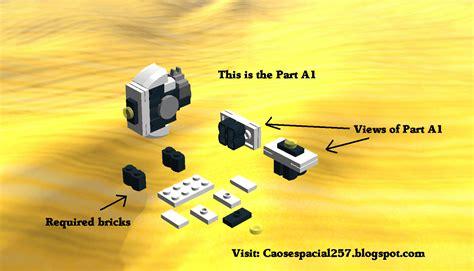 lego glados tutorial caos espacial 257 lego glados building guide