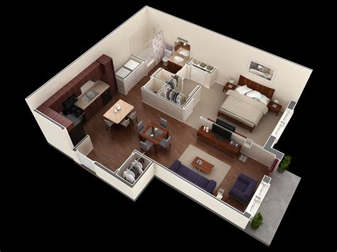 10 Idea For One Bedroom Apartment House Layout Interior One Bedroom Design Layout