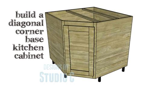 corner kitchen cabinet plans a corner base cabinet for a kitchen remodel designs by