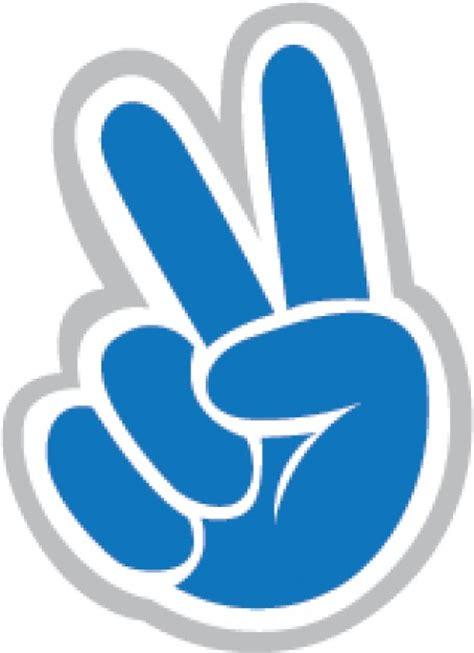 imagenes de simbolos con las manos mano azul con signo de la paz descargar vectores gratis