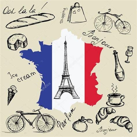 imagenes y simbolos de francia torre eiffel mapa y bandera de francia y los principales