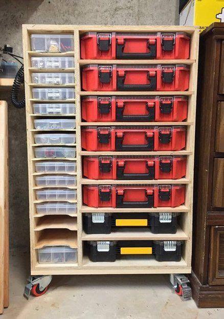 organizer box cabinet diy garage storage workshop