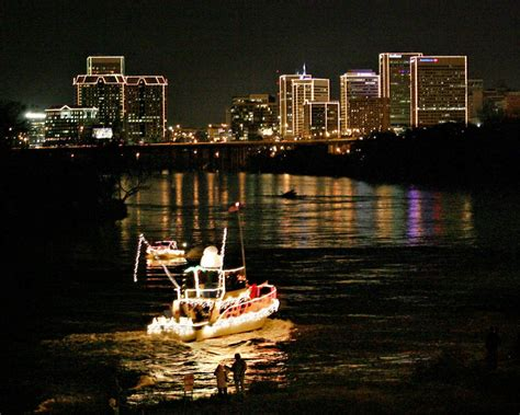 boat lights on the james james river parade of lights postponed events richmond