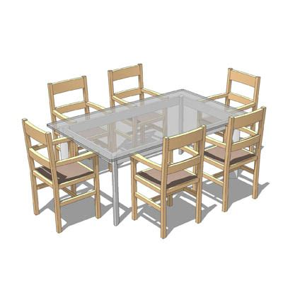 free table and chairs table and chairs 3d model formfonts 3d models textures