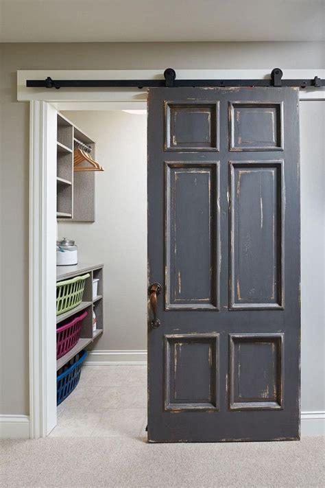 distressed barn door   door painted  benjamin
