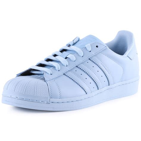 Adidas Superstar Supercolour Mens Light Blue Trainers