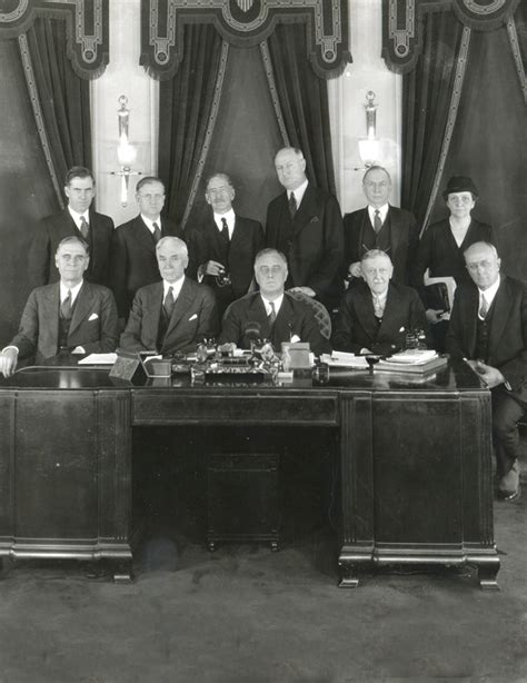 frances perkins top right with president franklin d