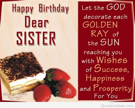 Happy Birthday Dear Quotes Dear Sister Happy Birthday Quote Wallpaper