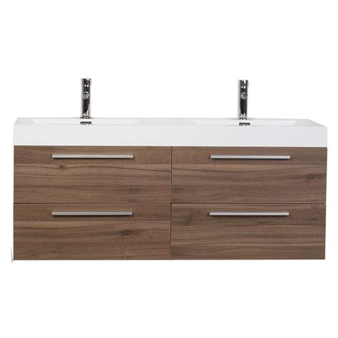 bathroom vanity set with drawers in walnut tn b1380