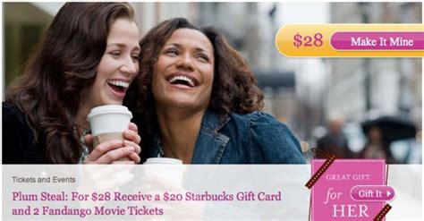 Fandango Gift Card Costco - 28 for two fandango tickets and 20 starbucks gift card valued at 44