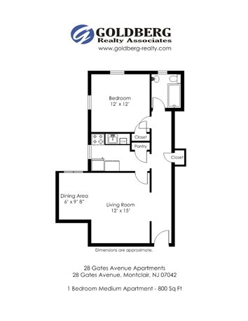 Eat In Kitchen Floor Plans by Floor Plans For 28 Gates Avenue Apartments Located In