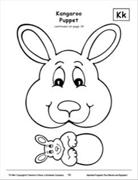 kangaroo puppet template the world s catalog of ideas