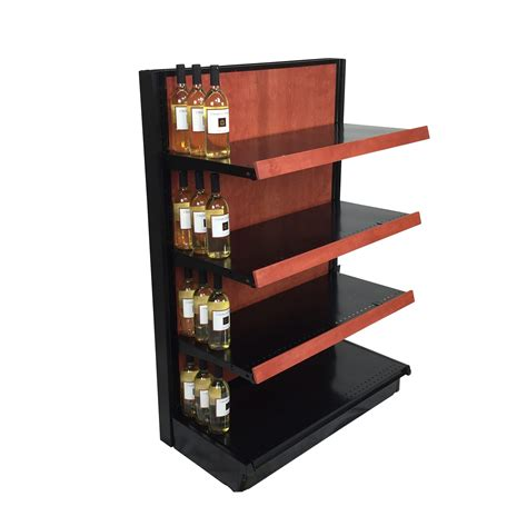 Retail Display Shelf by Wood Gondola Shelving Wooden End Caps Store Fixtures